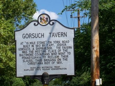 Gorsuch Tavern Marker image. Click for full size.