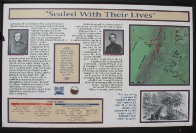"""Sealed With Their Lives"" Marker image. Click for full size."