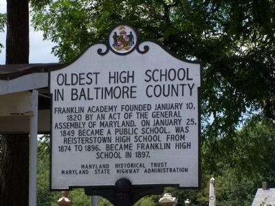 Oldest High School in Baltimore County Marker image. Click for full size.