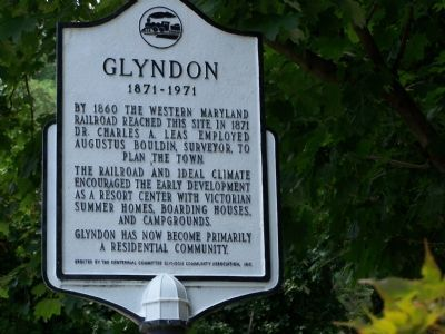 Glyndon 1871 - 1971 Marker image. Click for full size.