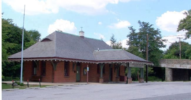 Former Western Maryland Train Station at Glyndon image. Click for full size.