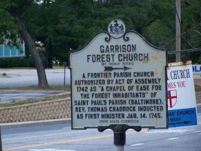 Garrison Forest Church (St. Thomas Parish) Marker image. Click for full size.