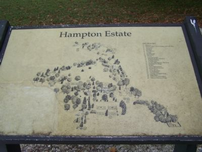 Map of Hampton Mansion grounds. image. Click for full size.