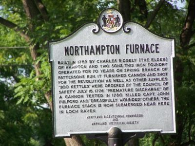 Northampton Furnace Marker image. Click for full size.