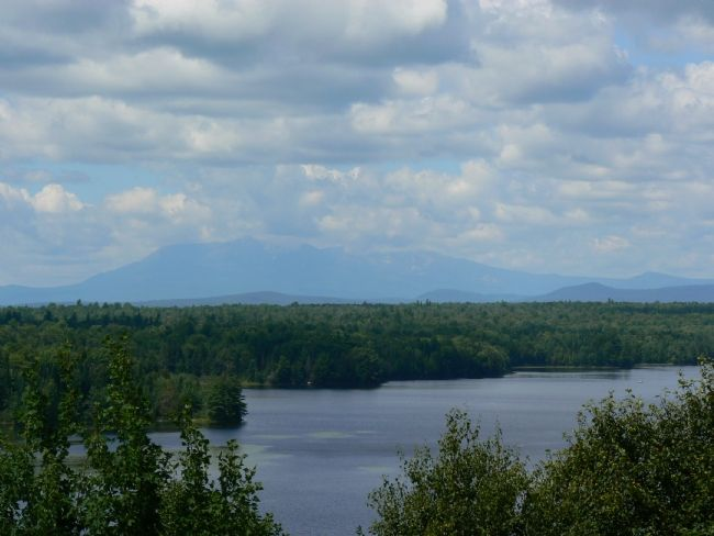 View of Mt. Katahdin from Marker image. Click for full size.
