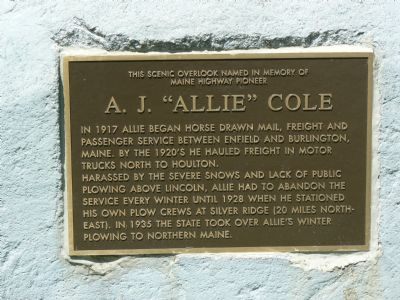 "A. J. ""Allie"" Cole Marker image. Click for full size."