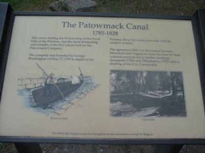 The Patowmack Canal Marker image. Click for full size.