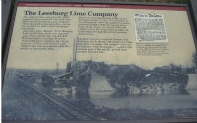 The Leesburg Lime Company Marker image. Click for full size.