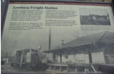 Leesburg Freight Station Marker image. Click for full size.