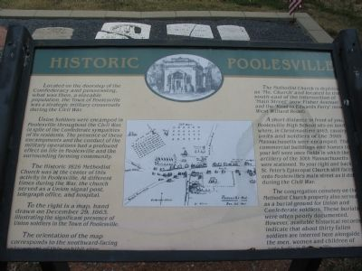 Historic Poolesville Marker image. Click for full size.