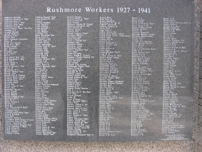 Rushmore Workers Marker image. Click for full size.