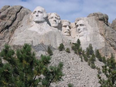 Mount Rushmore National Memorial image. Click for full size.