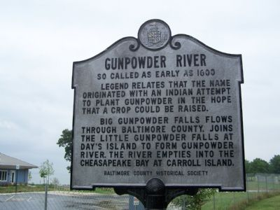 Gunpowder River So Called as Early as 1600 Marker image. Click for full size.
