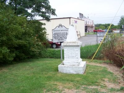 Monument with Marker in background image. Click for full size.