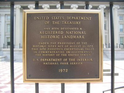 United States Department of the Treasury Marker image. Click for full size.