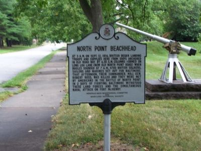 North Point Beachhead Marker image. Click for full size.