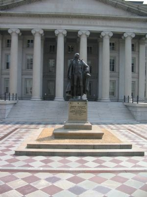 Albert Gallatin Memorial at the Treasury Dept. image. Click for full size.