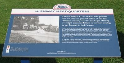 Highway Headquarters Marker image. Click for full size.