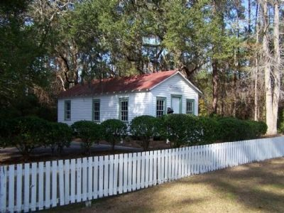 The Barrel Landing Schoolhouse as seen from Hwy SC 170 image. Click for full size.