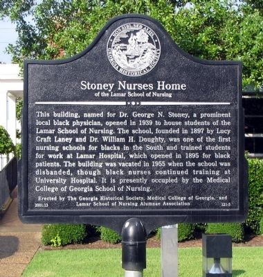 Stoney Nurses Home Marker image. Click for full size.