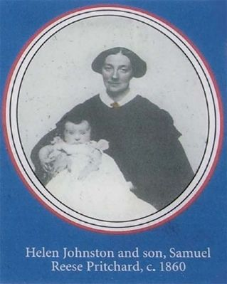 Helen Johnston Pritchard and Son around 1860 image. Click for full size.
