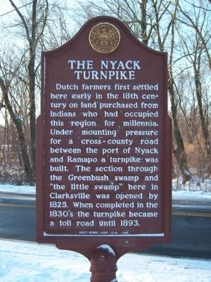 The Nyack Turnpike Marker image. Click for full size.