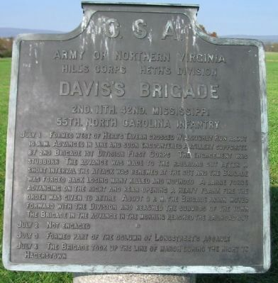 Davis's Brigade Tablet image. Click for full size.