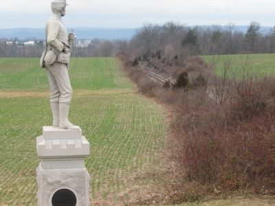 The Soldier Looks over the Railroad Cut image. Click for full size.