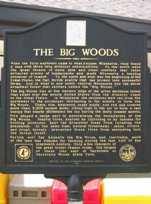 The Big Woods Marker image. Click for full size.