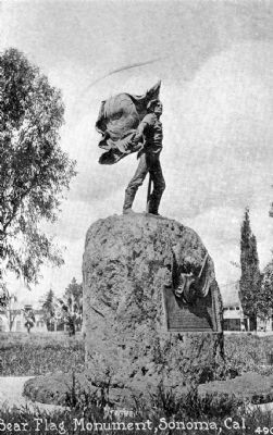 Raising of the Bear Flag Monument image. Click for full size.