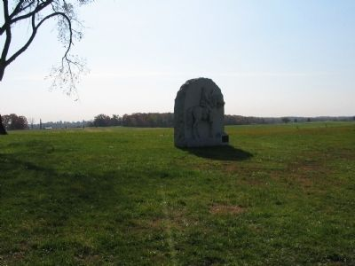17th Pennsylvania Cavalry Monument and Site of Forney House image. Click for full size.