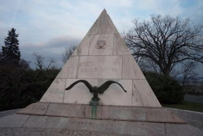 U.S. Coast Guard Memorial </b>northwest face image. Click for full size.