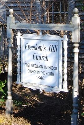 Freedom's Hill Church Marker image. Click for full size.