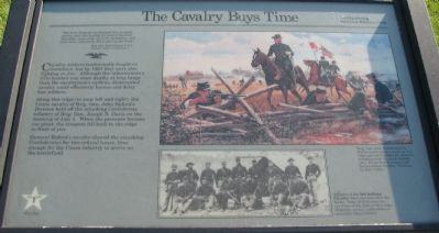 The Cavalry Buys Time Marker image. Click for full size.