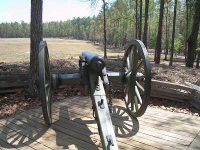 Confederate Gun Emplacement image. Click for full size.