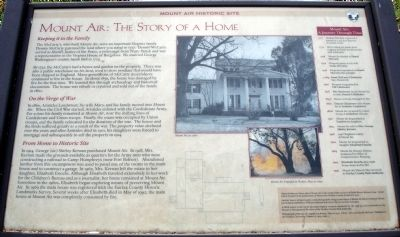 Mount Air: The Story of a Home Marker image. Click for full size.