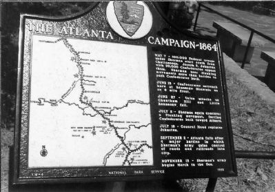Atlanta Campaign ~ 1864 Marker image. Click for full size.