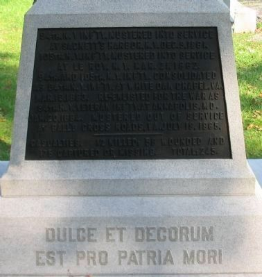 Right Side Plaque and Inscription image. Click for full size.