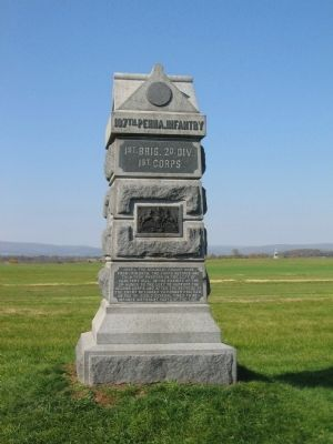 107th Pennsylvania Infantry Monument image. Click for full size.