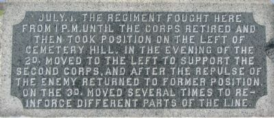 Inscription on Front of Monument image. Click for full size.