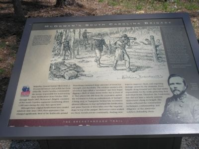 McGowan's South Carolina Brigade Marker image. Click for full size.