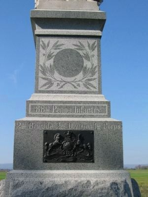 Front of Monument with State Seal image. Click for full size.