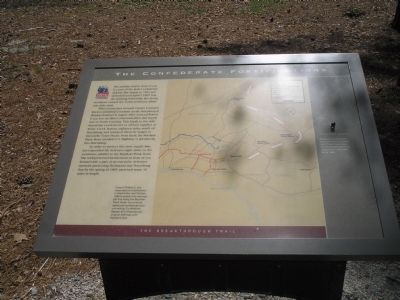 The Confederate Fortifications Marker image. Click for full size.