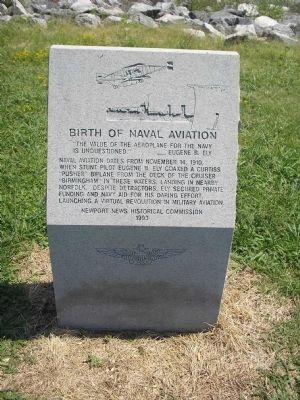 Birth of Naval Aviation Marker image. Click for full size.