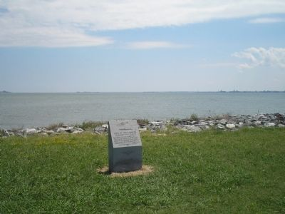 Marker on the Hampton Roads Waterfront image. Click for full size.