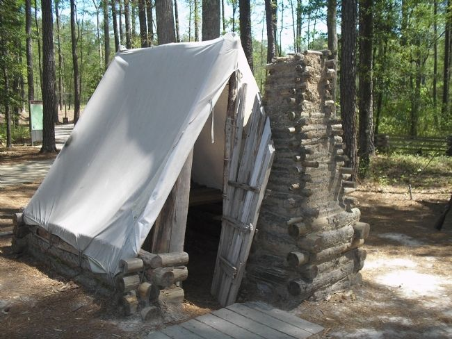 Tent in Confederate Winter Camp image. Click for full size.