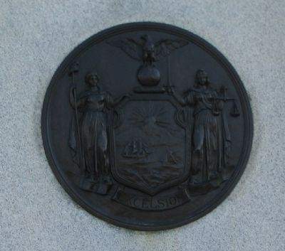 State Seal on Side of Monument image. Click for full size.