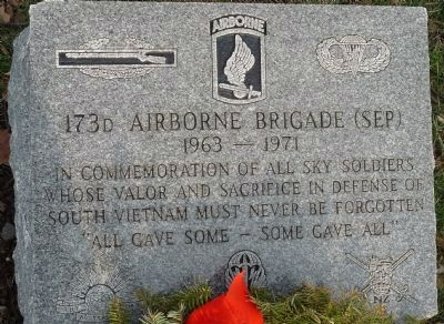 173d Airborne Brigade (Sep) Marker image. Click for full size.