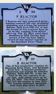 Savannah River Plant Marker image. Click for full size.