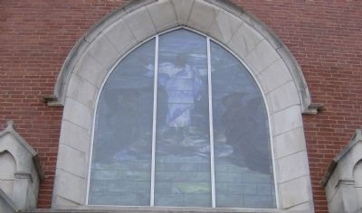 United Methodist Church Stained Glass image. Click for full size.